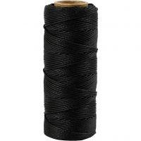 Bambusnöre, tjocklek 1 mm, svart, 65 m/ 1 rl.