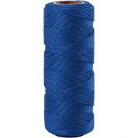 Bambusnöre, tjocklek 1 mm, blå, 65 m/ 1 rl.