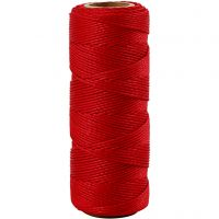 Bambusnöre, tjocklek 1 mm, röd, 65 m/ 1 rl.