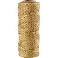 Bambusnöre, tjocklek 1 mm, guld, 65 m/ 1 rl.