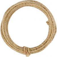 Jute Wire, tjocklek 2-4 mm, natur, 3 m/ 1 förp.