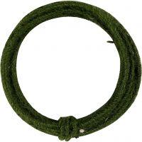 Jute Wire, tjocklek 2-4 mm, grön, 3 m/ 1 förp.
