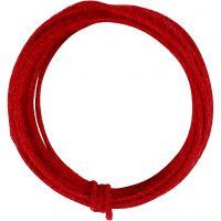 Jute Wire, tjocklek 2-4 mm, röd, 3 m/ 1 förp.