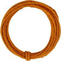 Jute Wire, tjocklek 2-4 mm, orange, 3 m/ 1 förp.