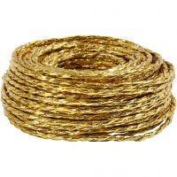 Paper Yarn, tjocklek 3,5-4 mm, guld, 25 m/ 1 rl.