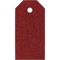 Manillamärken, stl. 5x10 cm, 300 g, röd, 15 st./ 1 förp.