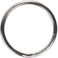 Nyckelringar, Dia. 15 mm, 10 st./ 1 förp.