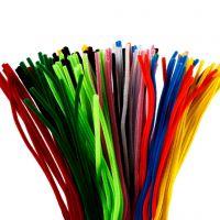 Piprensare, L: 45 cm, tjocklek 6 mm, mixade färger, 200 mix./ 1 förp.