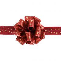 Susifixband, B: 18 mm, guld, röd, 5 m/ 1 rl.