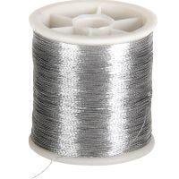 Sytråd, tjocklek 0,15 mm, silver, 100 m/ 1 rl.