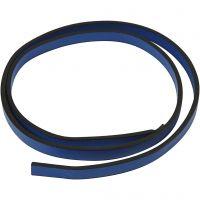 Imiterat läderband, B: 10 mm, tjocklek 3 mm, blå, 1 m/ 1 förp.