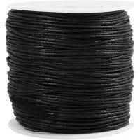 Bomullssnöre, tjocklek 0,6 mm, svart, 100 m/ 1 förp.