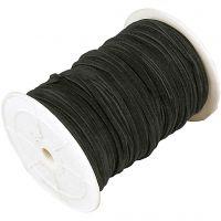 Imiterat mockasnöre, tjocklek 3 mm, svart, 100 m/ 1 rl.