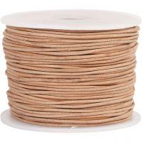 Lädersnöre, tjocklek 1 mm, beige, 50 m/ 1 rl.