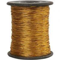 Tråd, tjocklek 0,5 mm, guld, 100 m/ 1 rl.
