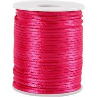 Satinsnöre, tjocklek 2 mm, rosa, 50 m/ 1 rl.