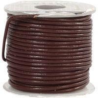 Lädersnöre, tjocklek 1 mm, brun, 10 m/ 1 rl.