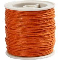 Bomullssnöre, tjocklek 1 mm, orange, 40 m/ 1 rl.