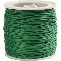 Bomullssnöre, tjocklek 1 mm, grön, 40 m/ 1 rl.