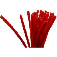 Piprensare, L: 30 cm, tjocklek 9 mm, röd, 25 st./ 1 förp.