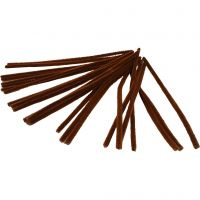 Piprensare, L: 30 cm, tjocklek 9 mm, brun, 25 st./ 1 förp.