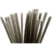 Piprensare, L: 30 cm, tjocklek 9 mm, grå, 25 st./ 1 förp.