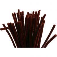 Piprensare, L: 30 cm, tjocklek 6 mm, gml. röd, 50 st./ 1 förp.