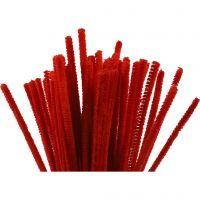 Piprensare, L: 30 cm, tjocklek 6 mm, röd, 50 st./ 1 förp.