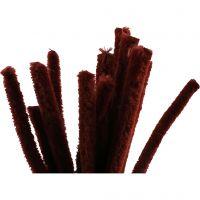 Piprensare, L: 30 cm, tjocklek 15 mm, gml. röd, 15 st./ 1 förp.