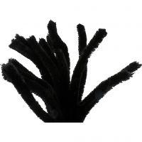 Piprensare, L: 30 cm, tjocklek 15 mm, svart, 15 st./ 1 förp.