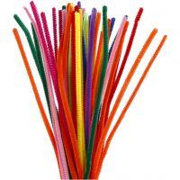 Piprensare, L: 30 cm, tjocklek 6 mm, mixade färger, 50 mix./ 1 förp.