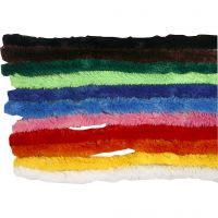 Piprensare, L: 30 cm, tjocklek 15 mm, mixade färger, 200 mix./ 1 förp.