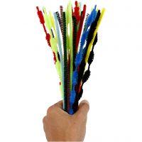 Piprensare, L: 30 cm, tjocklek 5-12 mm, mixade färger, 30 st./ 1 förp.