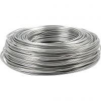Aluminiumtråd, rund, tjocklek 2 mm, silver, 100 m/ 1 rl.