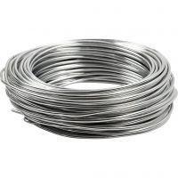 Aluminiumtråd, rund, tjocklek 3 mm, silver, 29 m/ 1 rl.