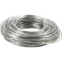 Aluminiumtråd, tjocklek 2,5 mm, silver, 75 m/ 1 rl.