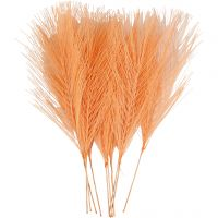 Konstgjorda fjädrar, L: 15 cm, B: 8 cm, orange, 10 st./ 1 förp.