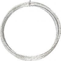 Aluminiumtråd, Diamond-cut, tjocklek 2 mm, silver, 7 m/ 1 rl.