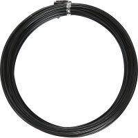 Aluminiumtråd, Rund, tjocklek 2 mm, svart, 10 m/ 1 rl.