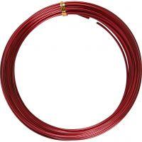 Aluminiumtråd, tjocklek 2 mm, röd, 10 m/ 1 rl.