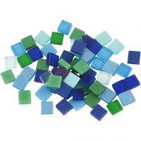 Minimosaik, stl. 5x5 mm, blå/grön harmoni, 25 g/ 1 förp.