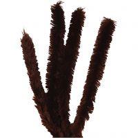 Piprensare, L: 40 cm, tjocklek 30 mm, brun, 4 st./ 1 förp.