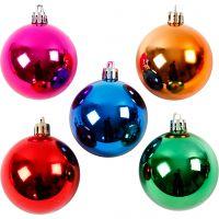 Julgranskulor, Dia. 6 cm, starka färger, 20 st./ 1 förp.