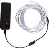 LED ljusslinga, L: 3 m, neonblå, vit, 1 st.