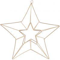 Metallornament, stjärna, stl. 34x30 cm, mässing, 1 st.