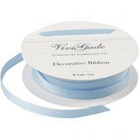 Grosgrainband, B: 6 mm, ljusblå, 15 m/ 1 rl.