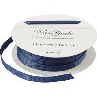 Grosgrainband, B: 6 mm, blå, 15 m/ 1 rl.