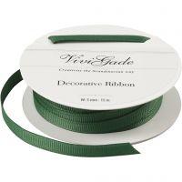 Grosgrainband, B: 6 mm, grön, 15 m/ 1 rl.