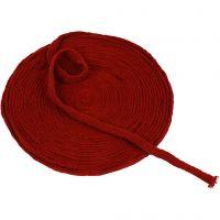 Tubstickat, B: 10 mm, gml. röd, 10 m/ 1 rl.