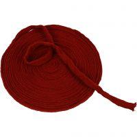 Tubstickat, B: 15 mm, gml. röd, 10 m/ 1 rl.